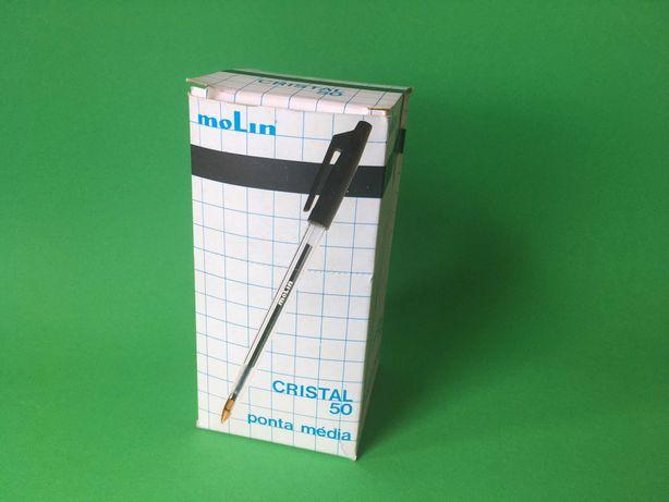 Caixa com 50 Canetas Cristal da Molin Made in Portugal Anos 80