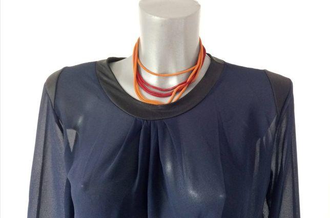 Granatowa bluzka, tunika. New Fantasy. Rozmiar XL. Dłuższy tył. Guziki