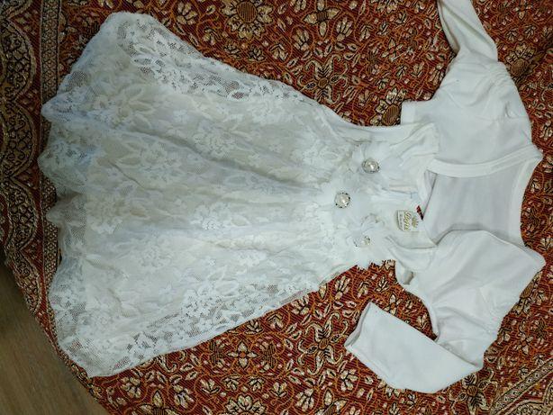 Платье нарядное на годик,платье на крещение болеро