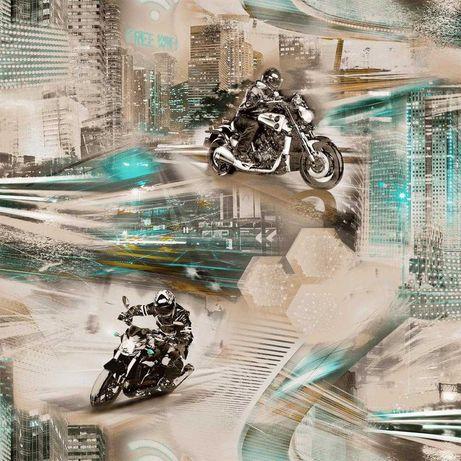 Tapeta ścienna młodzieżowa motocykl miasto sport motor