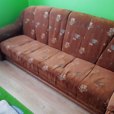 Wersalka + 2 fotele + 2 pufy
