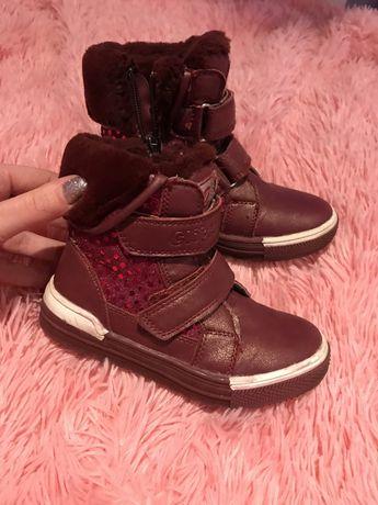 зимние ботинки для девочки 28