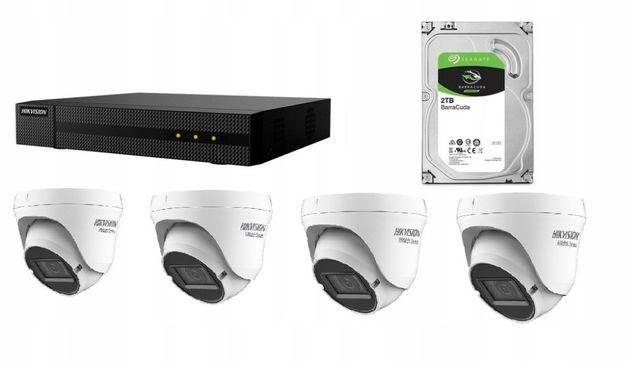 Zestaw Hikvision 4 Kamery 2MP 2,8-12MM + Dysk 2TB