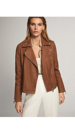 Косуха кожаная куртка Massimo Dutti. XS, M, L