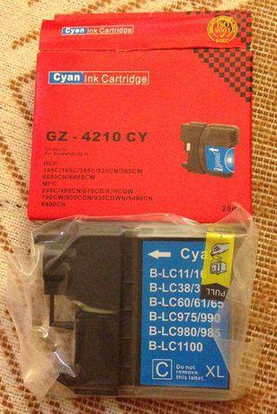 Tusz Brother 980/1100 cyan 20ml (GZ-4210 CY) Cyan Ink Cartridge