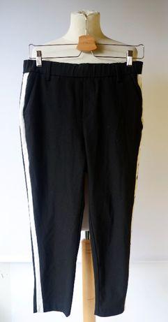 Spodnie Czarne Lampasy Zara S 36 Dresowe Eleganckie H&M Reserved Mango