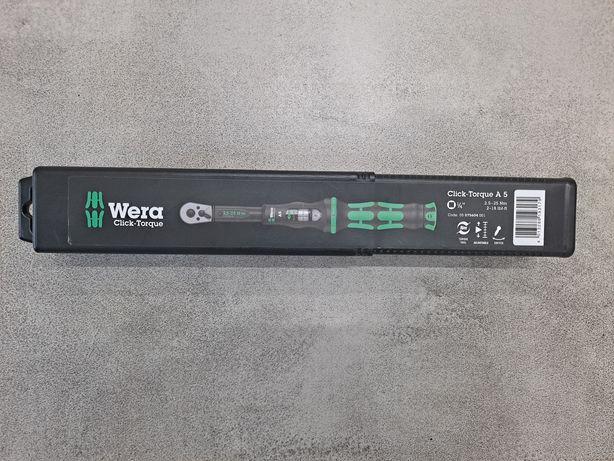 WERA CLICK-TORQUE A5 Klucz Dynamometryczny 1/4 2.5-25 Nm