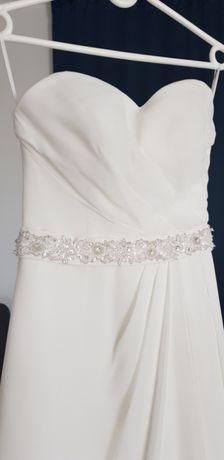 Elegancka suknia ślubna ivory 34/36 w kształcie litery A