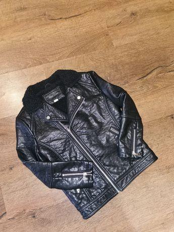 Курточка куртка косуха кожаная утеплённая