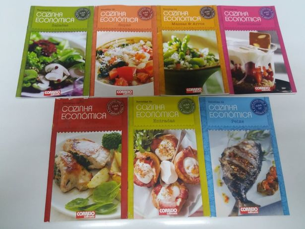 Fascículos com Receitas de Culinária