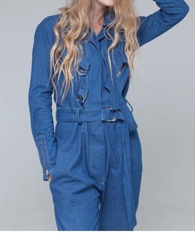 Стильный джинсовый дизайнерский комбинезон