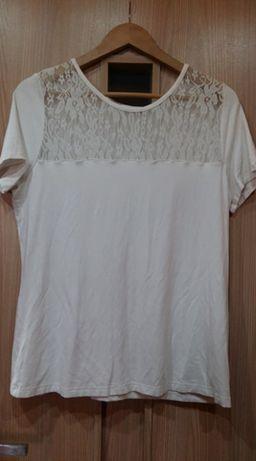 Bon prix-elastyczna bluzka z koronką 44/46