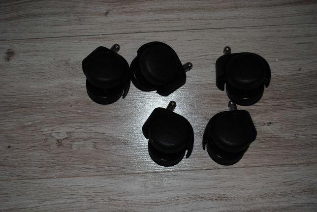 Kółka fotelowe fi 50mm trzpień 10mm w zestwie