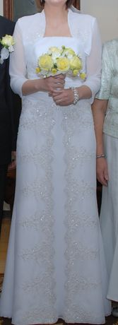 suknia ślubna rozm 38 (wzrost 172) + gratis
