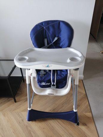 Krzesło krzesełko fotel do karmienia Caretero Bistro granatowy biały