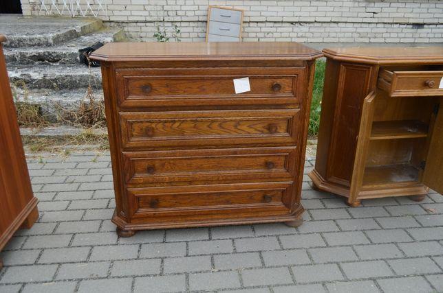Komoda dębowa szafka 4 szuflady