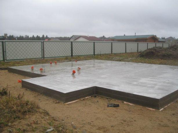 Фундаменты отмостки бетонные работы установка заборов