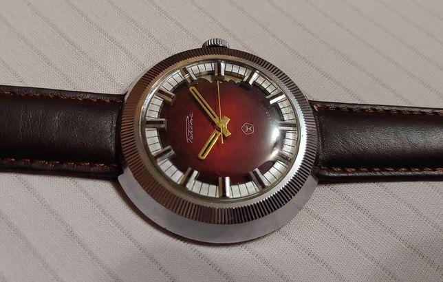 Часы Ракета на калибре 2609.Н.А в хромированом корпусе выпуск ссср.