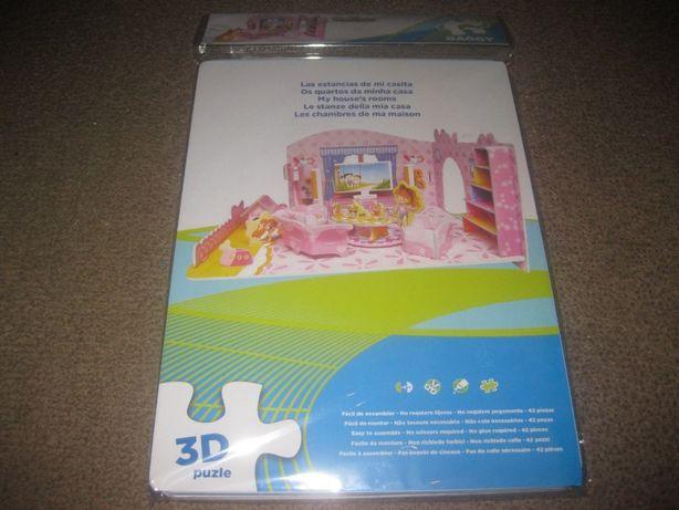 """Puzzle 3D """"Os Quartos da Minha Casa"""" Novo e Selado!"""