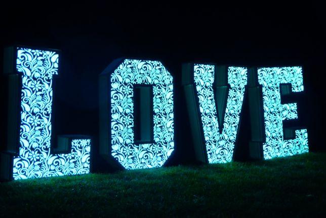 Napis LOVE ażurowy na wesele, dowolny kolor NOWOŚĆ!!!