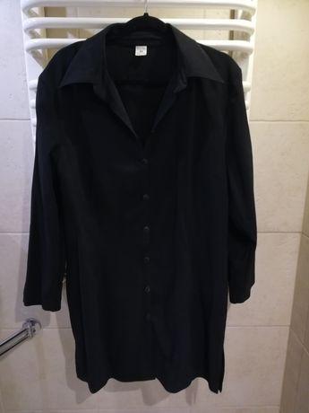 Sukienka tunika koszula czarna