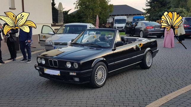 Wynajem BMW E30 Cabrio V8 300koni na ślub wesele event film teledysk