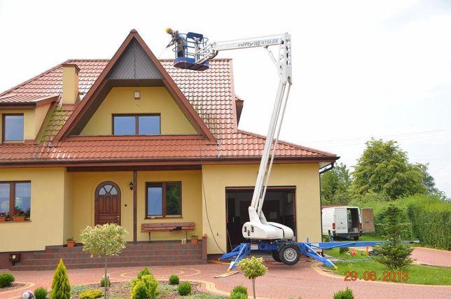 Malowanie elewacji domu hal magazynów dachu Natryskowe agregatem Śląsk