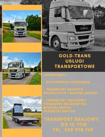 Usługi transportowe autolaweta platforma