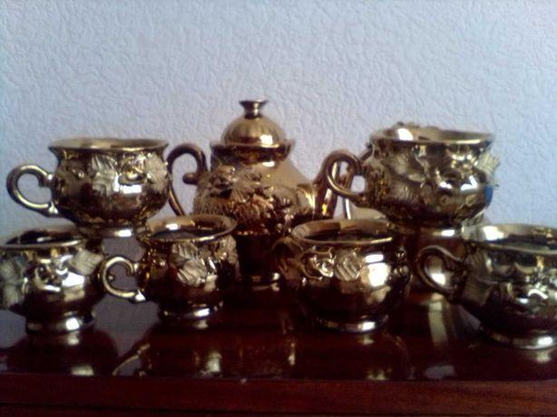"""Сервиз чайный""""Золотая роза"""" на 6 персон."""