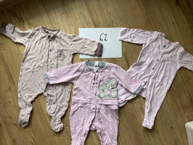 Ubranka dla dziewczynki - pajacyki, body 62/68