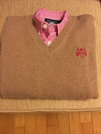 Conjunto pulôver e camisa