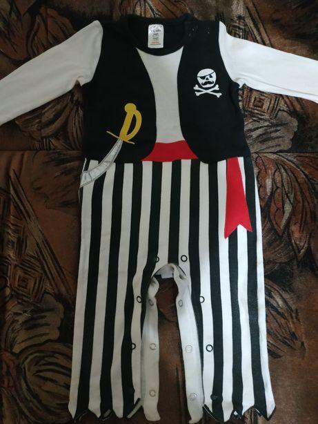 Новогодний человечек костюм Пирата 9-12 мес