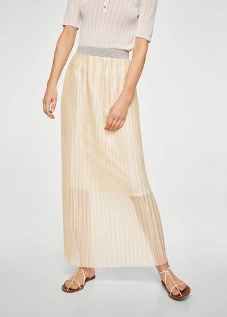 Плиссированная длинная юбка Mango, размер M