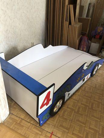 Кровать гоночная машина синяя детская взрослая