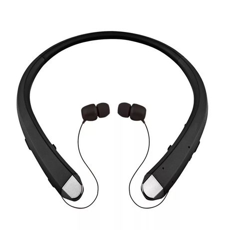 Słuchawki bezprzewodowe, chowane czarne