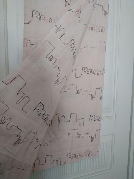 Zasłona do pokoju dziecięcego Bench pudrowy róż 140x135cm