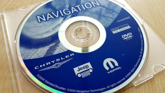Oryginalna płyta nawigacji EU do Jeep, Chrysler, Dodge