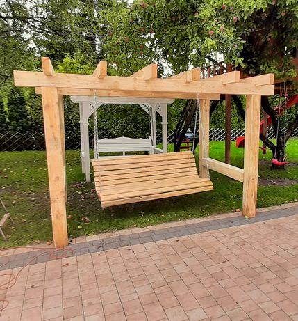 Huśtawka ogrodowa , 3 metry x 180cm. Transport , montaż.