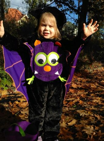Костюм детский карнавальный Хэллоуин 3-4 г. Летучая Мышь Кажан иск.мех