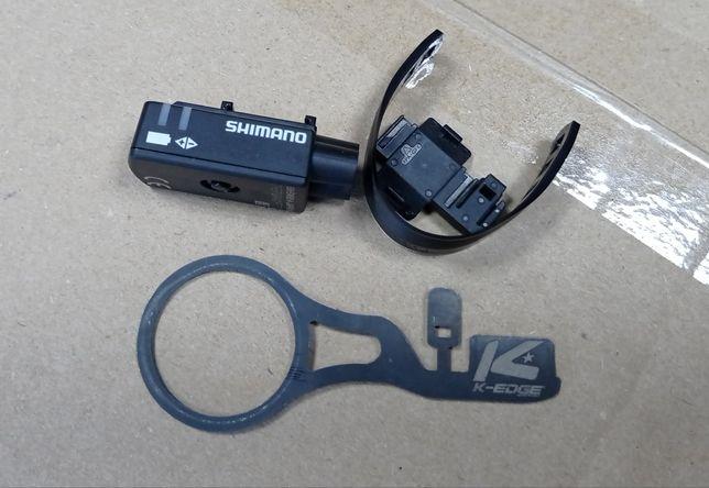 Łącznik przewodów Di2 SM-EW90 3 porty + uchwyt K-EDGE Shimano