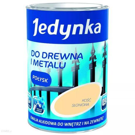 Emalia Farba JEDYNKA do Drewno Metal Kość Słoniowa 0,9L Drewna Metalu