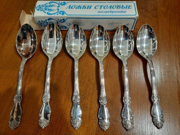 Sztućce - radzieckie łyżki platerowane