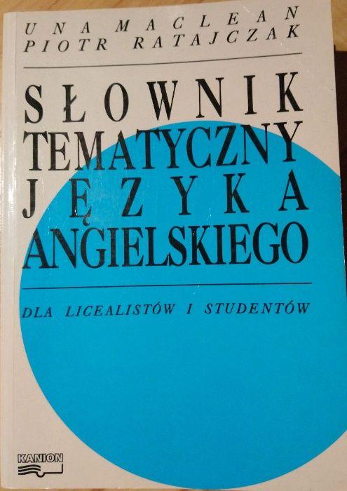 """Książka """"Słownik tematyczny języka angielskiego"""" U.MacLean P.Ratajczak Swarzędz - image 1"""