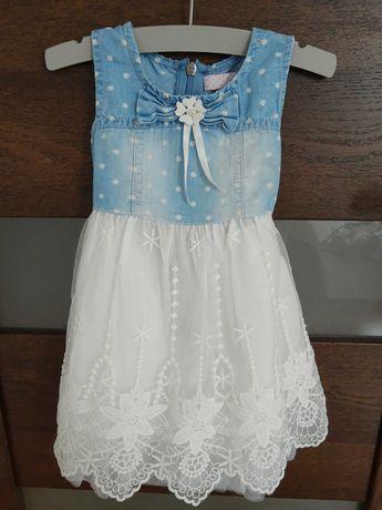 Śliczna sukienka dla małej modnisi 74