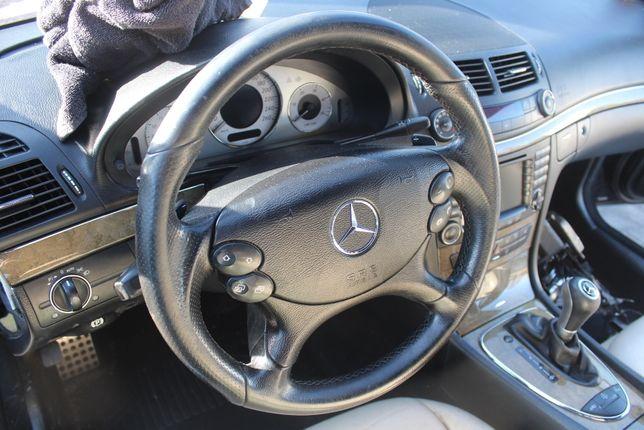 Kierownica kompletna AMG Mercedes W211 czarna skóra rok 2007