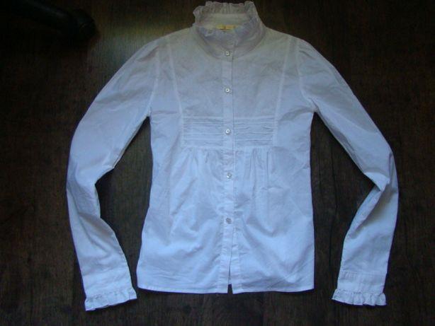 Продам нарядную белоснежную блузку Many&Many р.152 см в новом состоян