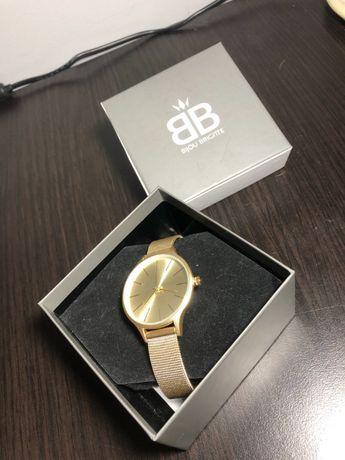 Nowy złoty damski zegarek bijou brigette