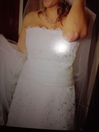 Vendo vestido noiva feito á mão