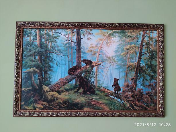 """Репродукція """"Утро в лесу"""" Шишкін"""