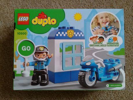 Lego Duplo 10900 nowe posterunek + policjant na motorze